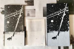 Snowflakes Dog Man by Hajime Kimura