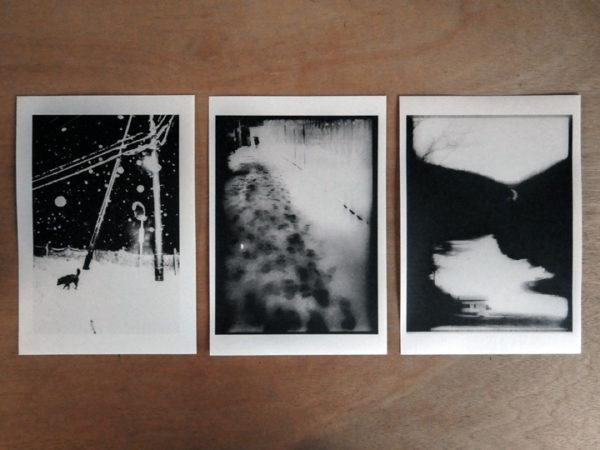 Snowflakes Dog Man Prints