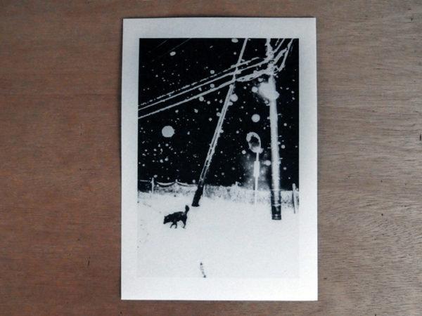 Snowflakes Dog Man Print 1