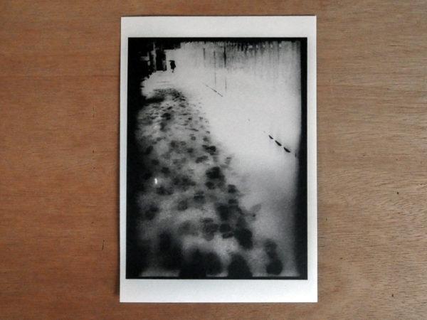 Snowflakes Dog Man Print 3
